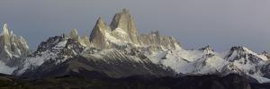 Snowcapped Mountain Range, Mt Fitzroy, Argentine Glaciers National Park, Santa Cruz Province
