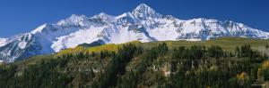 Snowcapped Mountains on a Landscape, Blanca Peak, Mt. Lindsey, San Luis Valley, Colorado, USA