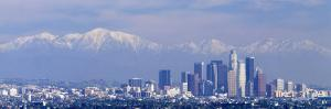 Snowcapped San Gabriel Mountains, Los Angeles, California, USA