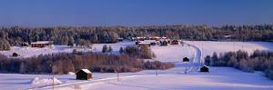 Snowy Rural Landscape Oestra Tavelsjoe Sweden