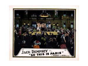 So This Is Paris, Jack Dempsey, 1924