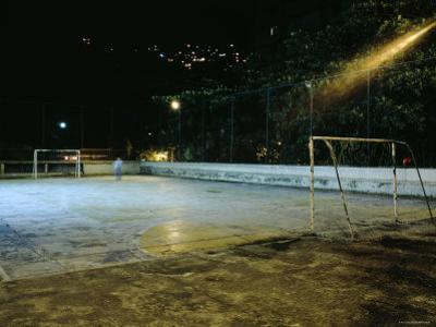 Soccer field Lit Up at Night, Rio de Janeiro, Brazil