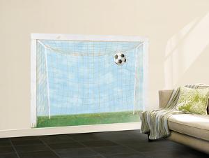 Soccer Goal Huge Mural Art Print Poster
