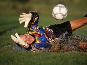 Soccer Goalie in Action