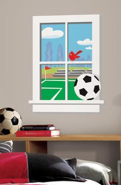 Soccer Practice Peel & Stick Window Wall Decal