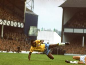 Soccer Star Pele in Action During World Cup Competition