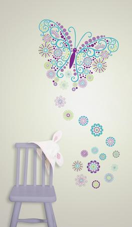 Social Butterfly Wall Art Decal Kit
