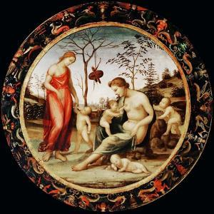 Allegory of Love (Venus Terrestre with Eros and Venus Celeste with Anteros and Two Cupid) by Sodoma