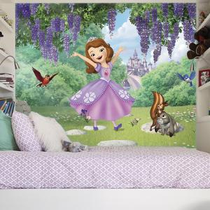 Sofia the First - Friends Garden XL Chair Rail Prepasted Mural