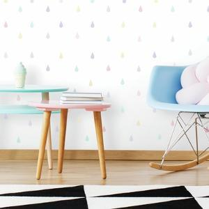 Soft Pastel Raindrop Peel And Stick Wall Decals