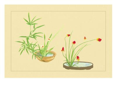 Bamboo, Narcissus, and Lily