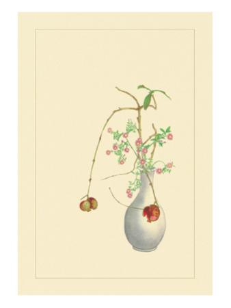 Pomegranate and Chrysanthemum