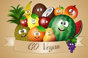 Funny Fruits for Vegan Diet by sognolucido