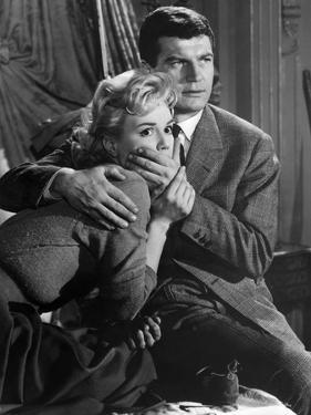 SOIS BELLE and TAIS-TOI !, 1958 directed by MARC ALLEGRET Mylene Demongeot and Henri Vidal (b/w pho