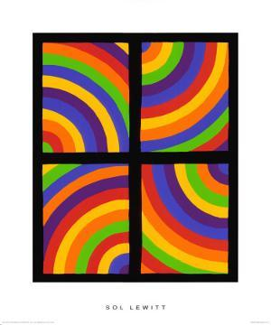 Color Arcs in Four Directions, c.1999 by Sol Lewitt