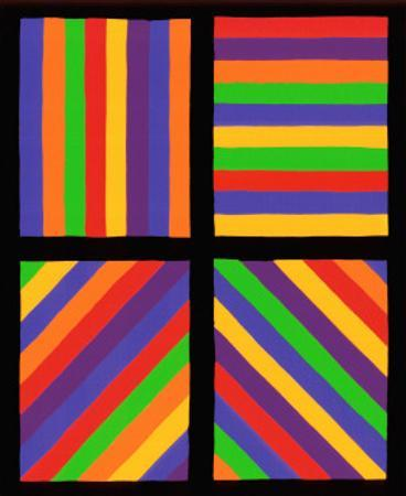 Color Bands in Four Directions, c.1999 by Sol Lewitt