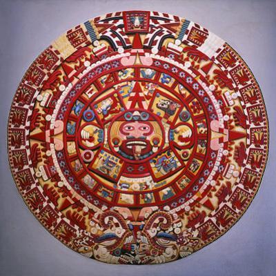 Solar Calendar, Aztec, Mexica Culture (Reconstruction)