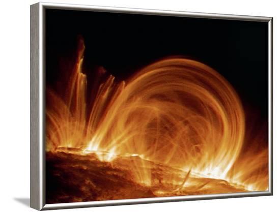 Solar Coronal Loops--Framed Photographic Print
