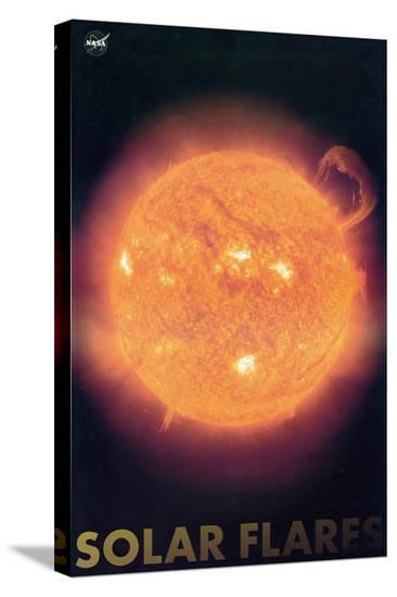 Solar Flares--Stretched Canvas Print