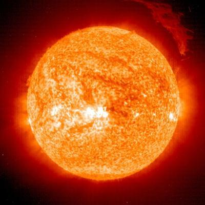 Solar Prominence, SOHO Image