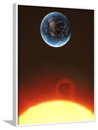 Solar Storm, Artwork--Framed Photographic Print
