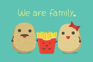 Potato Family Include Father and Mother Which Have Son is French Fries. by Solar22