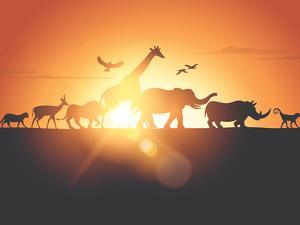 Sunset Safari by Solarseven