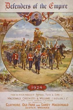 Soldiers from the British Empire and King George V