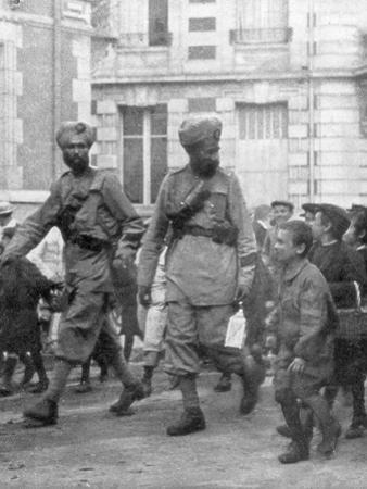 Soldiers from the British Indian Army, France, C1915