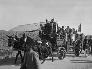 Soldiers of the French Foreign Legion Travelling by Wagon, Syria, 20th Century