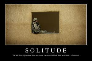 Solitude: Inspirational Quote and Motivational Poster