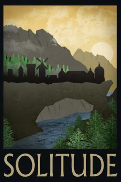 Solitude Retro Travel Poster