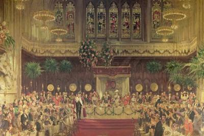 Coronation Luncheon for King George V and Queen Mary in Guildhall, 29th June 1911, 1914-22