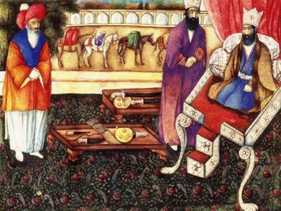 Solomon Receiving Presents from the Queen of Sheba, C.1863-4