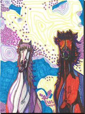 Two Horses First Date by Solveig Studio