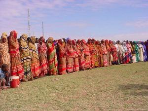 Somali Women in Colorful Dress Come out to Support the Transitional Federal Government