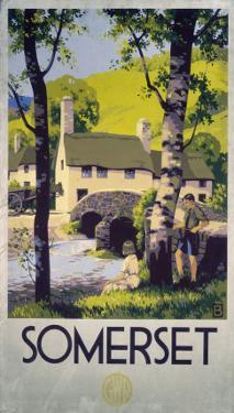 Somerset Boy and Girl by Bridge