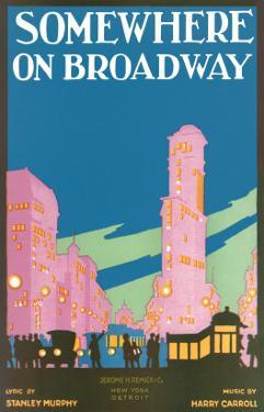 Somewhere on Broadway, Sheet Music, New York