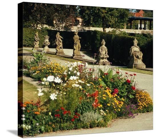 Somptuous Garden V--Stretched Canvas Print