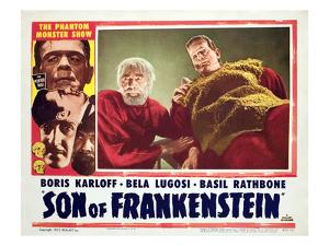Son of Frankenstein, Bela Lugosi, Boris Karloff, 1939