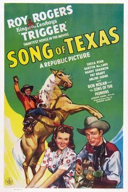 Song of Texas, from Left: Roy Rogers, Sheila Ryan, Roy Rogers, 1943