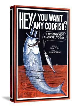 Song Sheet Cover: Hey! You Want Any Codfish?