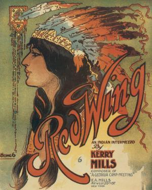 Song Sheet Cover: Red Wing, an Indian Intermezzo by Kerry Mills