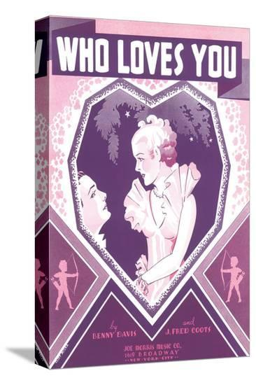 Song Sheet Cover: Who Loves You-Cliff Miska-Stretched Canvas
