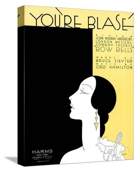 Song Sheet Cover: You're Blasé-Iors-Stretched Canvas