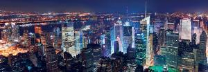 Aerial View of Manhattan at Night, New York by Songquan Deng
