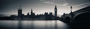 Big Ben and House of Parliament in London at Dusk Panorama. by Songquan Deng