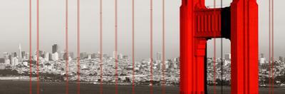 Golden Gate Bridge Closeup Panorama in San Francisco as the Famous Landmark. by Songquan Deng