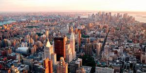 New York City Manhattan Sunset by Songquan Deng