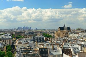 Paris Rooftop View with City Skyline. by Songquan Deng